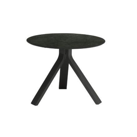 """Stern Beistelltisch """"Freddie"""", Gestell Aluminium anthrazit, Tischplatte HPL Dark Marble, Ø 55 cm, Höhe 43 cm"""