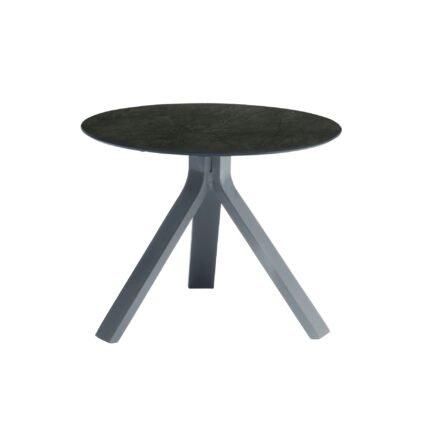 """Stern Beistelltisch """"Freddie"""", Gestell Aluminium graphit, Tischplatte HPL Dark Marble, Ø 55 cm, Höhe 43 cm"""