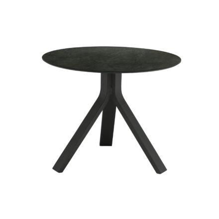 """Stern Beistelltisch """"Freddie"""", Gestell Aluminium anthrazit, Tischplatte HPL Dark Marble, Ø 60 cm, Höhe 48 cm"""