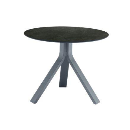 """Stern Beistelltisch """"Freddie"""", Gestell Aluminium graphit, Tischplatte HPL Dark Marble, Ø 60 cm, Höhe 48 cm"""