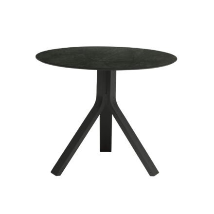 """Stern Beistelltisch """"Freddie"""", Gestell Aluminium anthrazit, Tischplatte HPL Dark Marble, Ø 65 cm, Höhe 53 cm"""