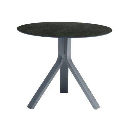 """Stern Beistelltisch """"Freddie"""", Gestell Aluminium graphit, Tischplatte HPL Dark Marble, Ø 65 cm, Höhe 53 cm"""