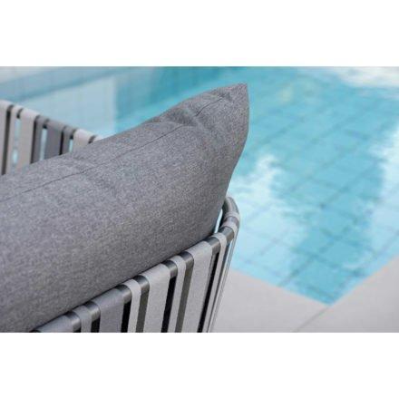 Stern Sessel Space, Gestell Aluminium anthrazit, Textilenbespannung grau zweifarbig