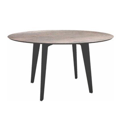 Stern Gartentisch Ø 134 cm, Alu anthrazit, Tischplatte HPL Smoky