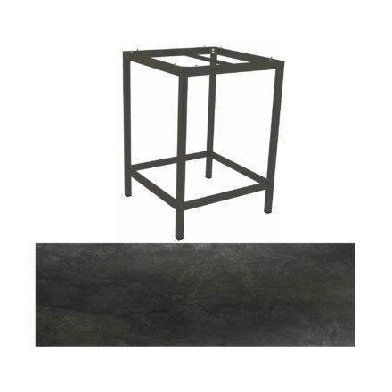 Stern Bartisch, Gestell Aluminium anthrazit, Tischplatte HPL Dark marble