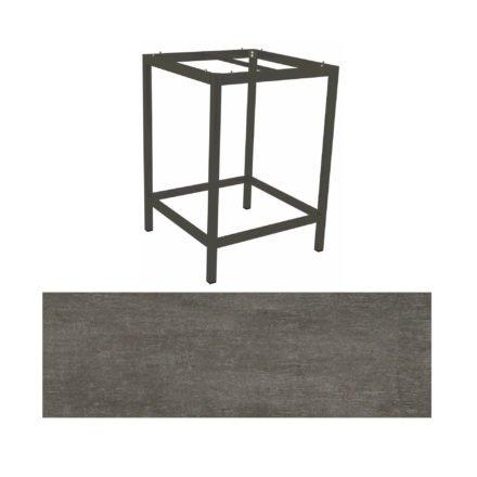 Stern Bartisch, Gestell Aluminium anthrazit, Tischplatte HPL Metallic grau
