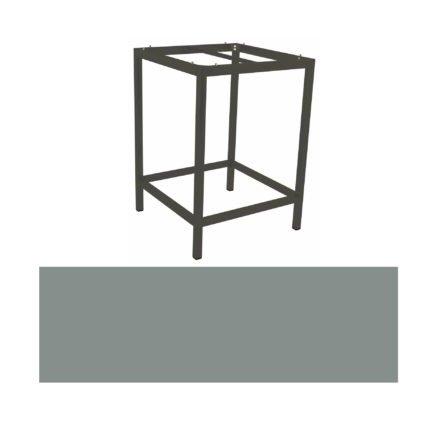 Stern Bartisch, Gestell Aluminium anthrazit, Tischplatte HPL Nordic green