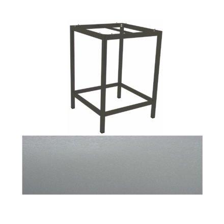 Stern Bartisch, Gestell Aluminium anthrazit, Tischplatte HPL Uni grau