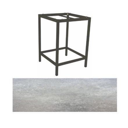 Stern Bartisch, Gestell Aluminium anthrazit, Tischplatte HPL Vintage stone