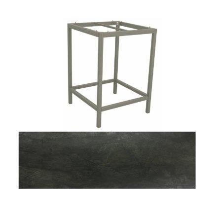 Stern Bartisch, Gestell Aluminium graphit, Tischplatte HPL Dark Marble