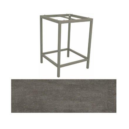 Stern Bartisch, Gestell Aluminium graphit, Tischplatte HPL Metallic grau