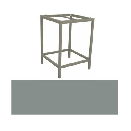 Stern Bartisch, Gestell Aluminium graphit, Tischplatte HPL Nordic green