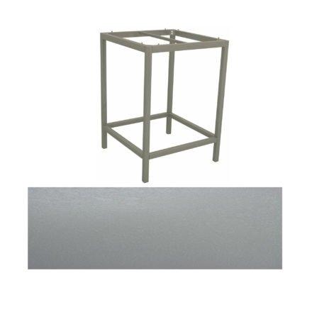 Stern Bartisch, Gestell Aluminium graphit, Tischplatte HPL Uni grau