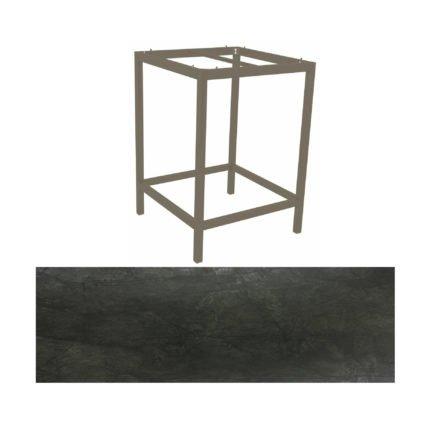 Stern Bartisch, Gestell Aluminium taupe, Tischplatte HPL Dark Marble