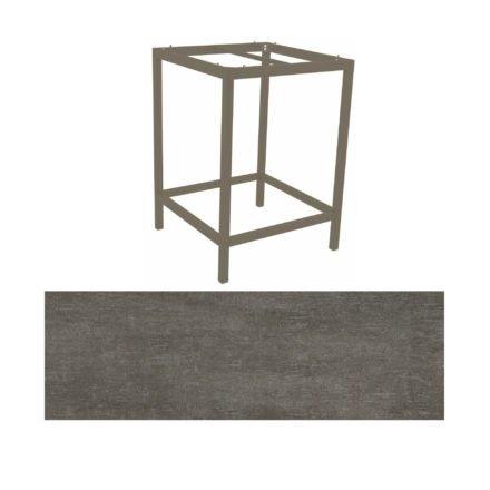 Stern Bartisch, Gestell Aluminium taupe, Tischplatte HPL Metallic grau