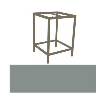 Stern Bartisch, Gestell Aluminium taupe, Tischplatte HPL Nordic green