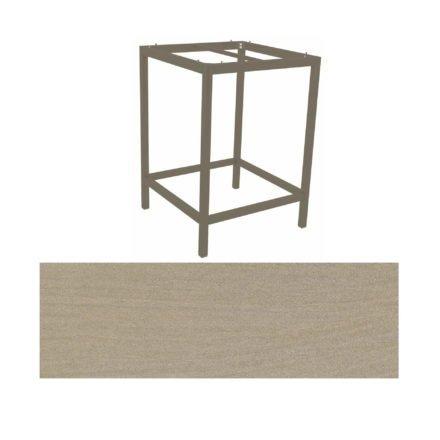 Stern Bartisch, Gestell Aluminium taupe, Tischplatte HPL Sahara