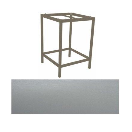 Stern Bartisch, Gestell Aluminium taupe, Tischplatte HPL Uni grau