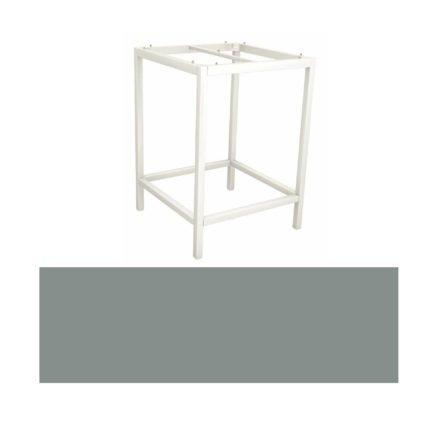 Stern Bartisch, Gestell Aluminium weiß, Tischplatte HPL Nordic green