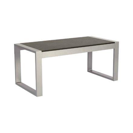 """Stern Beistelltisch """"Allround"""", Gestell Edelstahl, Tischplatte HPL Vintage grau"""