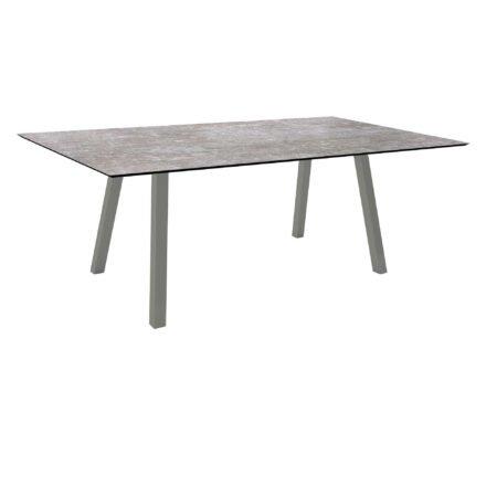 """Stern Tisch """"Interno"""", Größe 180x100cm, Alu graphit, Vierkantrohr, Tischplatte HPL Metallic Grau"""