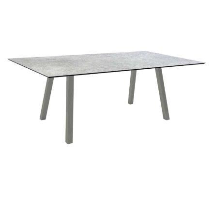 """Stern Tisch """"Interno"""", Größe 180x100cm, Alu graphit, Vierkantrohr, Tischplatte HPL Vintage Stone"""