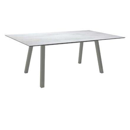 """Stern Tisch """"Interno"""", Größe 180x100cm, Alu graphit, Vierkantrohr, Tischplatte HPL Zement Hell"""