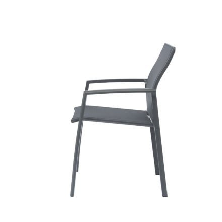 """Stern Stapelsessel """"Kari"""", Gestell Aluminium anthrazit, Textilgewebe karbon"""