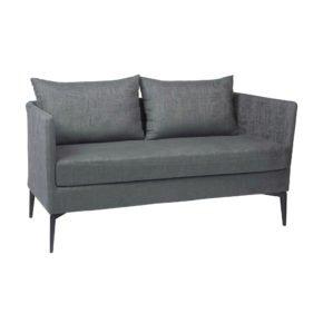 "Stern ""Marta"" 2-Sitzer Sofa, Gestell Alu anthrazit, Bezug: Outdoorstoff dunkelgrau/schiefergrau meliert"