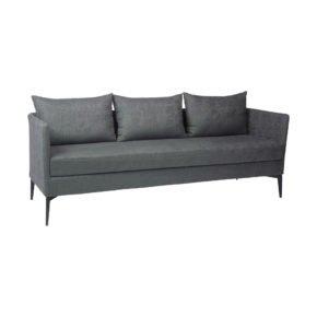 "Stern ""Marta"" 3-Sitzer Sofa, Gestell Alu anthrazit, Bezug: Outdoorstoff dunkelgrau/schiefergrau meliert"