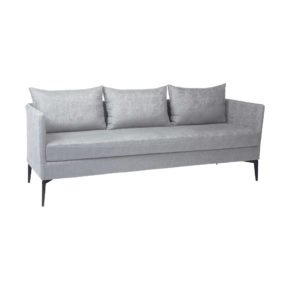 "Stern ""Marta"" 3-Sitzer Sofa, Gestell Alu anthrazit, Bezug: Outdoorstoff hellgrau/seidengrau meliert"