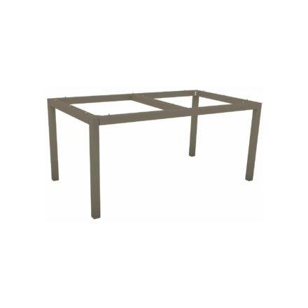 Stern Tischgestell Aluminium taupe, 130x80 cm