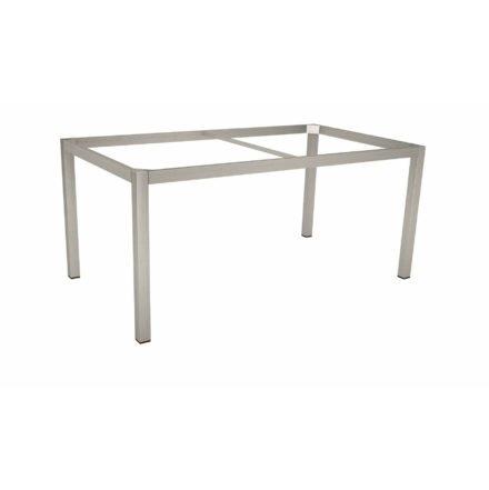 Stern Tischgestell Edelstahl Vierkant, 160x90 cm, ohne Distanzhüllen