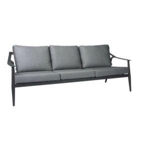 "Loungesofa 3-sitzig ""Vanda"" der Marke Stern, Gestell Aluminium anthrazit, Kissen seidengrau 100% Polyacryl"