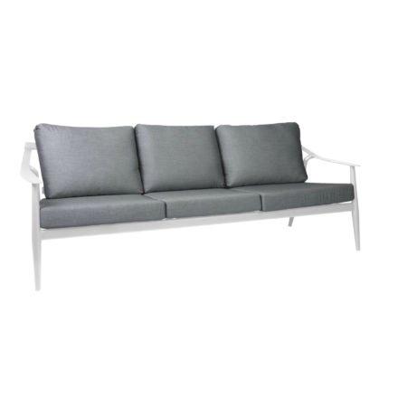 """Loungesofa 3-sitzig """"Vanda"""" der Marke Stern, Gestell Aluminium weiß, Kissen seidengrau 100% Polyacryl"""