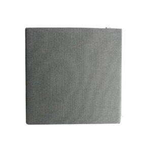 Gartenkultur Universal-Sitzkissen, Sunbrella Natte charcoal chine, 43 x 43 cm
