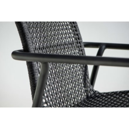 "Jati&Kebon Serie ""Durham"", Aluminium eisengrau, Bespannung Rope schwarz"