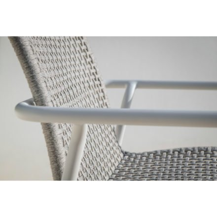 "Jati&Kebon Serie ""Durham"", Aluminium weiß, Bespannung Rope light grey melange"