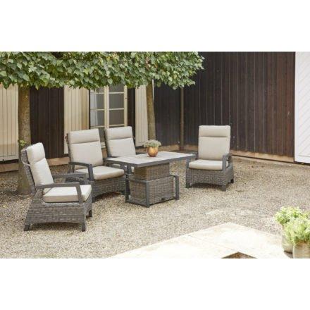 "Siena Garden ""Corido"" Loungeset 5-tlg., Aluminium anthrazit matt, Geflecht charcoal grey"