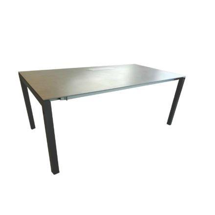 """SIT Mobilia Ausziehtisch """"Manhattan"""" mit Dreheinlage, Gestell Aluminium eisengrau, Platte Dekton Kreta, 180(240)x95 cm"""