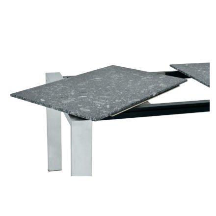 SIT Mobilia Gartentisch, beispielhafte Abbildung für Auszugsfunktion mit einer Dreheinlage, Gestell und Plattendekor nicht verbindlich