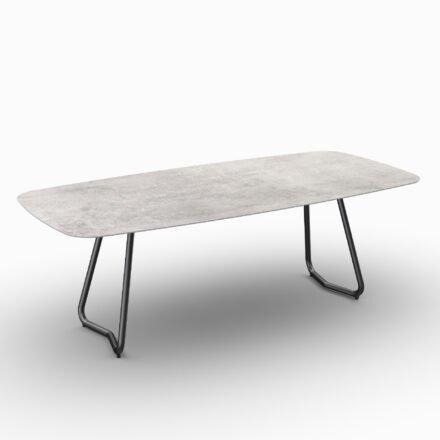 """SIT Mobilia Gartentisch """"Jura-Delemont"""" oval, Gestell Stahl eisengrau lackiert, Tischplatte Dekton Kreta, 220x100 cm"""