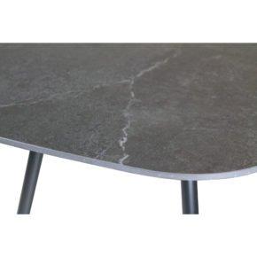 """SIT Mobilia Gartentisch """"Jura-Delemont"""" oval, Gestell Stahl eisengrau lackiert, Tischplatte Dekton Laos, 220x100 cm"""