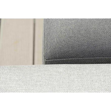 "Stern Loungeserie ""Domino"", Gestell Aluminium, Bezug aus Outdoorstoff in Grau & Dunkelgrau"