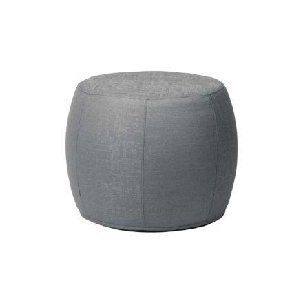 """Stern """"Pouf"""", Sitzhocker aus Outdoorstoff dunkelgrau/schiefergrau meliert, Ø 50/59 cm"""