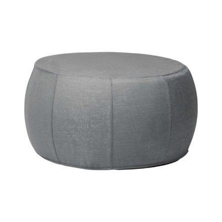 """Stern """"Pouf"""", Sitzhocker aus Outdoorstoff dunkelgrau/schiefergrau meliert, Ø 70/79 cm"""