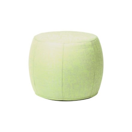 "Stern ""Pouf"", Sitzhocker aus Outdoorstoff farngrün/seidengrau meliert, Ø 50/59 cm"