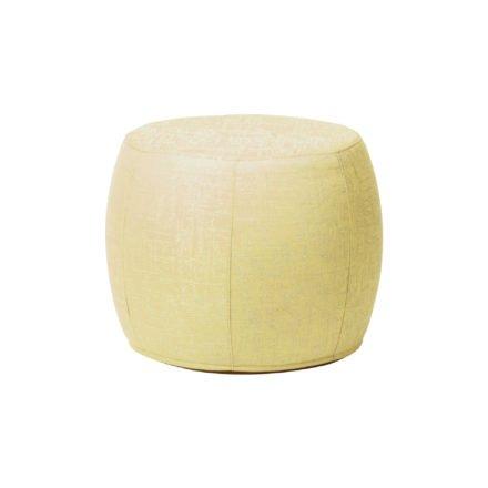 """Stern """"Pouf"""", Sitzhocker aus Outdoorstoff gelb/seidengrau meliert, Ø 50/59 cm"""