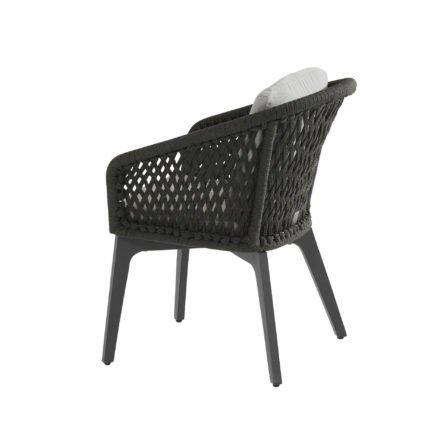 "4Seasons Outdoor Dining Sessel ""Belize"" inkl. 2 Kissen, Gestell Aluminium anthrazit, Rope schwarz"