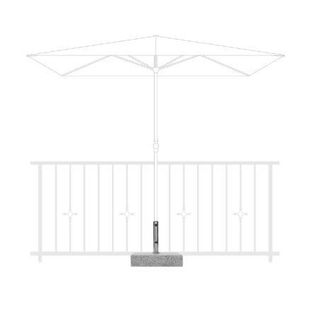 """Doppler Balkon-Granitsockel, 25 kg, für Sonnenschirm """"ACT"""", 220x130 cm"""